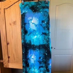Rue21 galaxy print maxi skirt